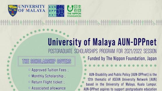 Học bổng dành cho người khuyết tật AUN-DPPnet năm học 2021-2022