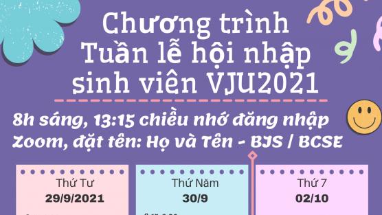 Tuần lễ hội nhập sinh viên đại học khóa VJU2021